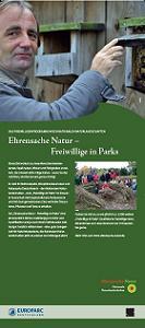 """Ausstellung """"Ehrensache Natur - Freiwillige in Parks"""""""