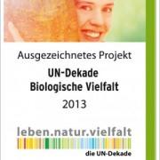 """Logo Ausgezeichnetes Projekt """"UN-Dekade Biologische Vielfalt"""""""