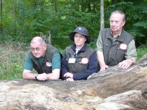 Drei Nationalparkführer mit Westen