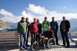 Gruppenfoto der österreichischen Studiengruppe am Kaunertaler Gletscher
