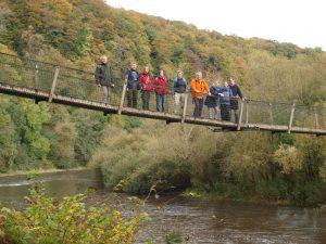 Gruppenfoto der Studiengruppe Großbritannien in der Wye Valley AONB
